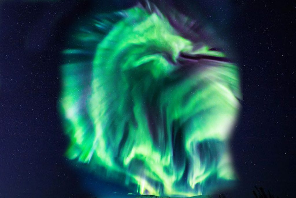 NASA Spots A Mystifying Massive Dragon Aurora Over Iceland